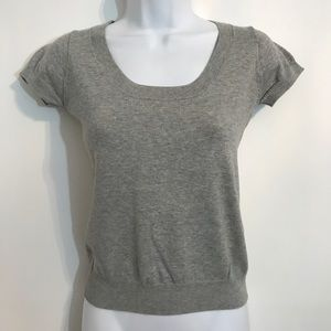 Gray short sleeve knit top by Zara. Size small